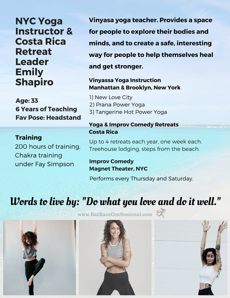yoga instructor resume
